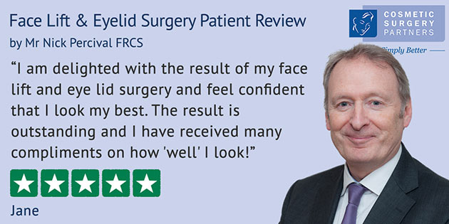 London cosmetic surgeon Nick Percival review