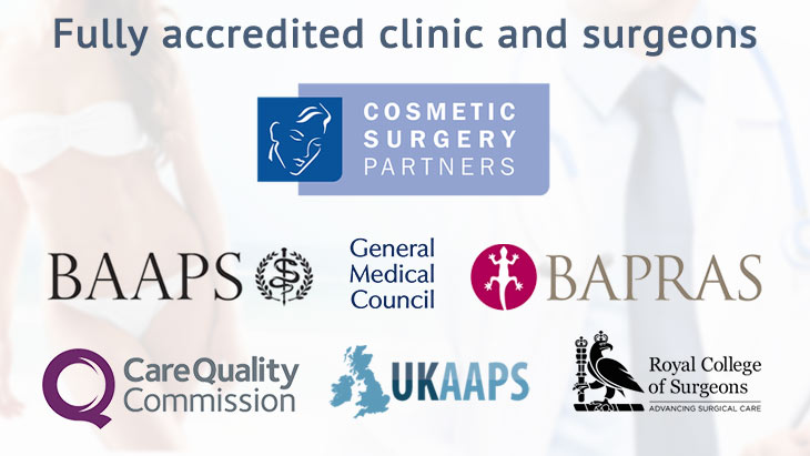 cosmetic surgery partners are fully recognised and accredited