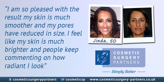 Obagi patient at cosmetic surgery partners quote