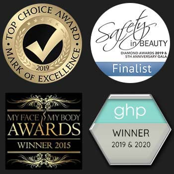 cosmetic surgery partners awards prizes logos footer