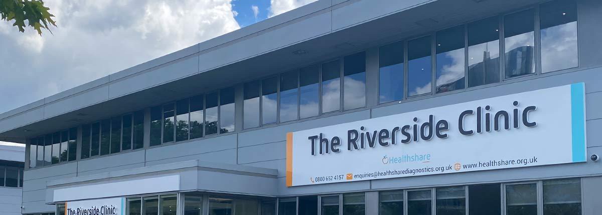 the riverside exterior hospital